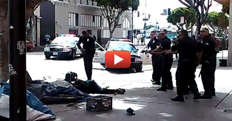 LAPD Executes homeless man